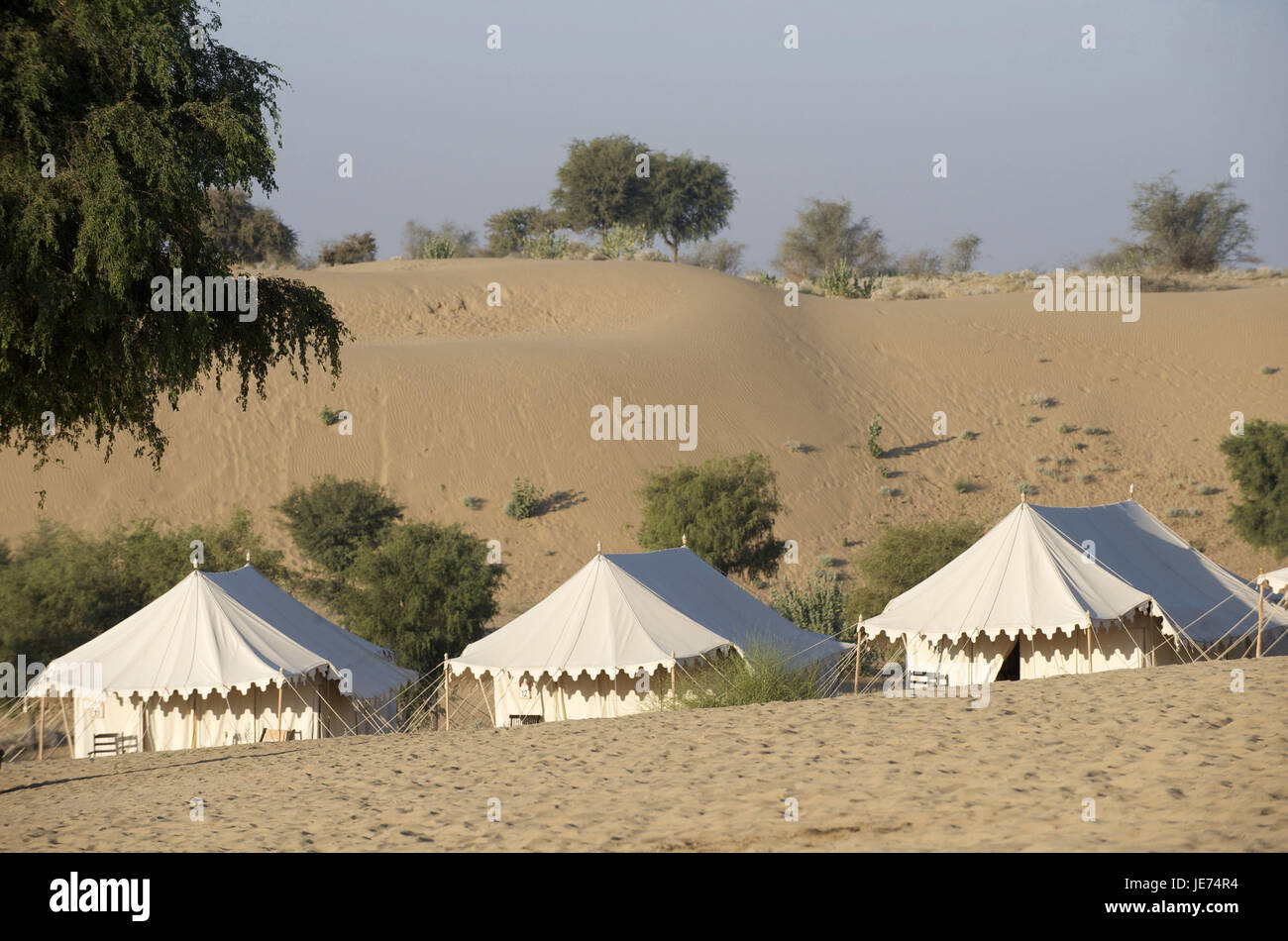 India Rajasthan Manvar wild c& with tents & India Rajasthan Manvar wild camp with tents Stock Photo ...