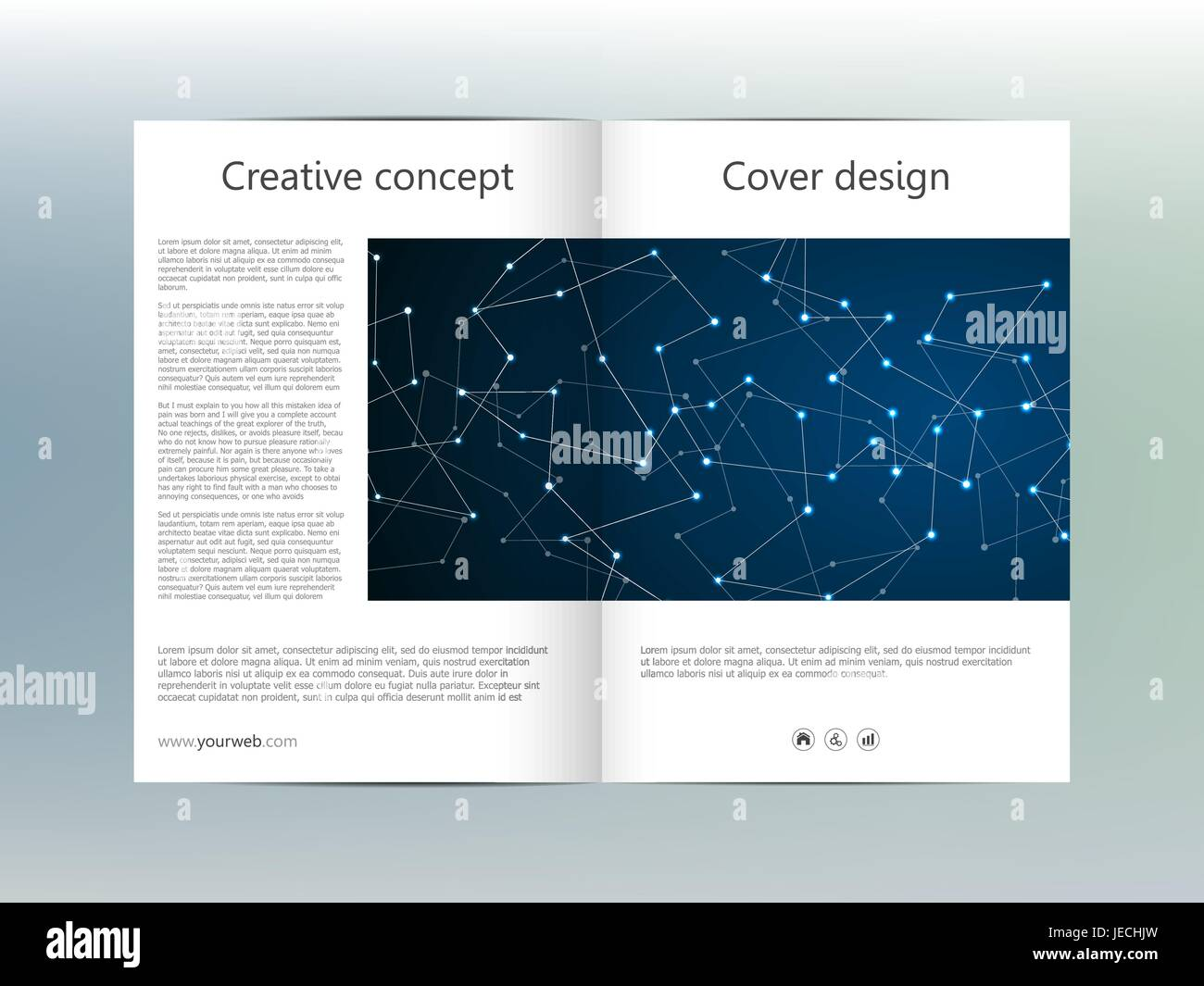 Bi Fold Brochure Template Layout Flyer Cover Annual Report - Bi fold brochure templates