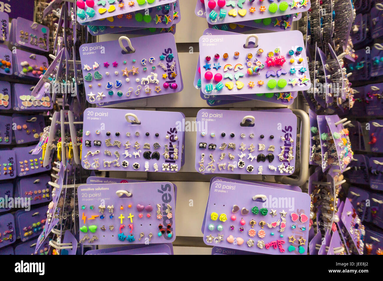 A Claire's Store in Midtown Manhattan in New York on ...