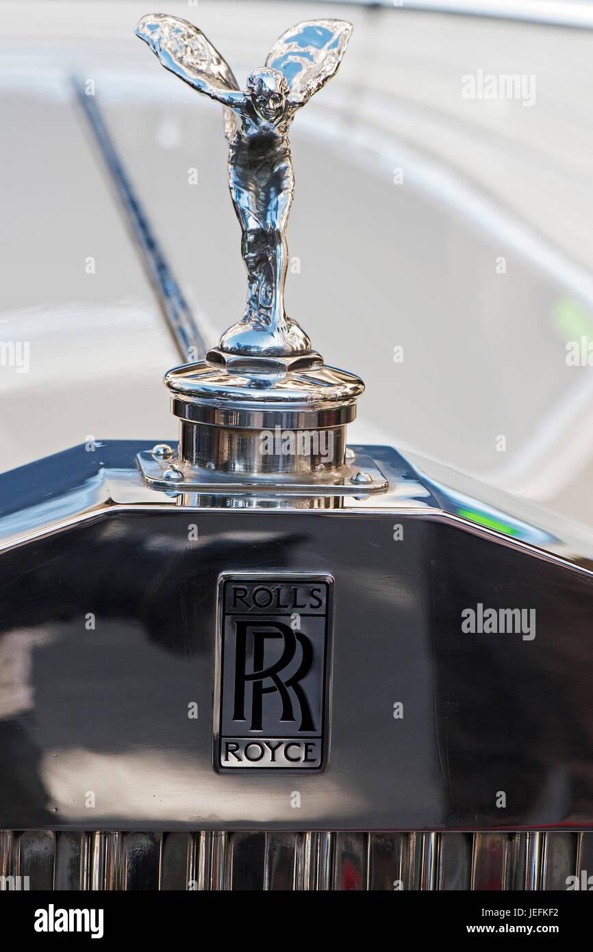 The image of Antique Rolls Royce Car Logo vintage car in car rally ...