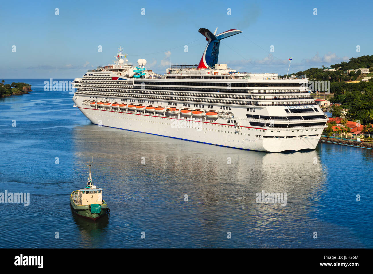 Cruise Ship Carnival Valor Docked In Castries The Valor Operated - Valor cruise ship