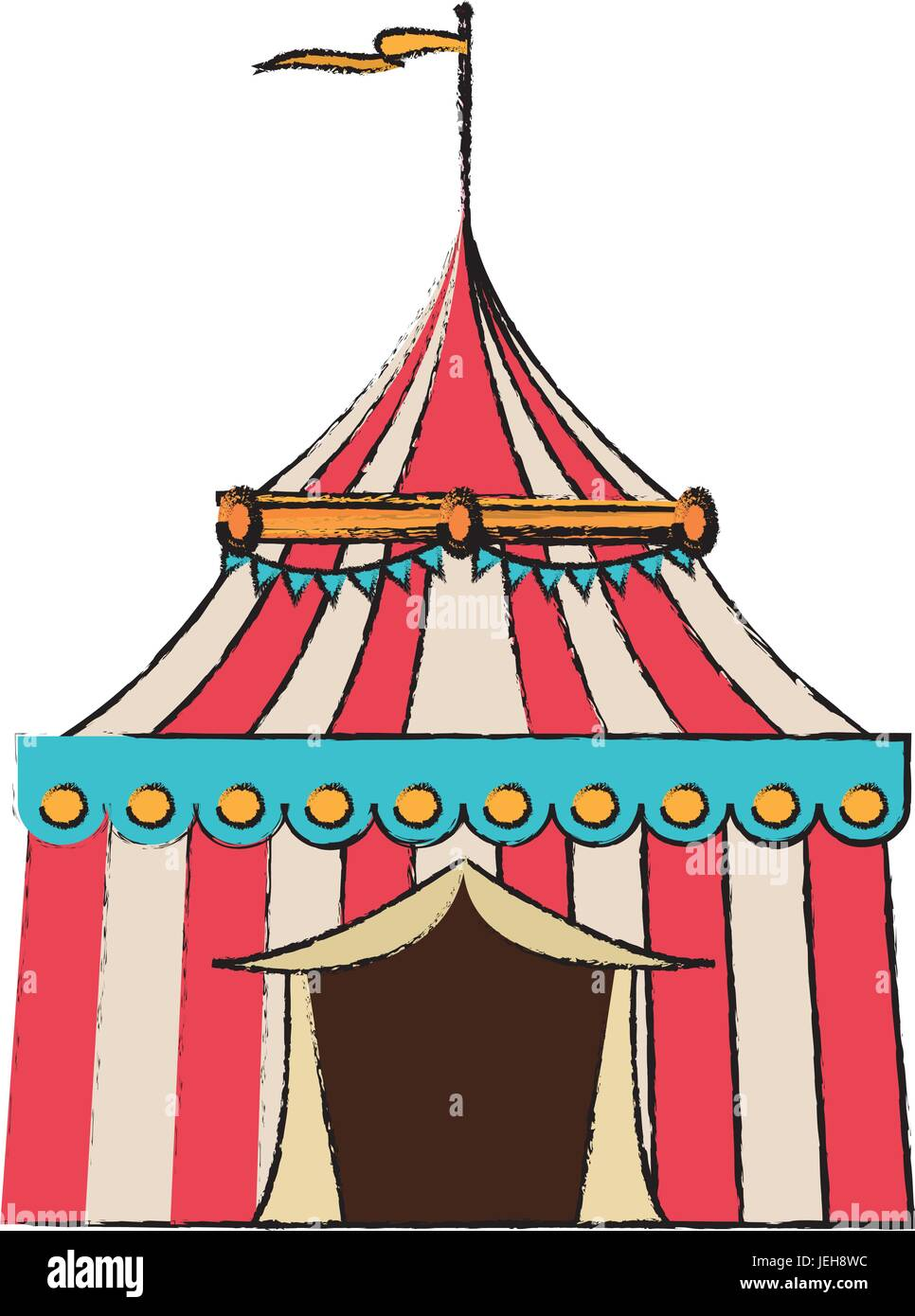 circus tent tops stripes flag on top  sc 1 st  Alamy & circus tent tops stripes flag on top Stock Vector Art ...