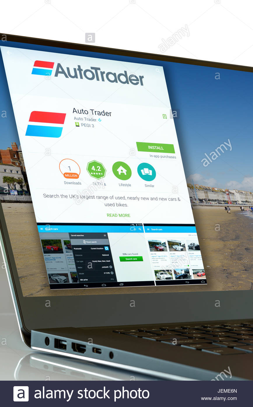 Auto Trader app on laptop screen, England, UK Stock Photo, Royalty ...