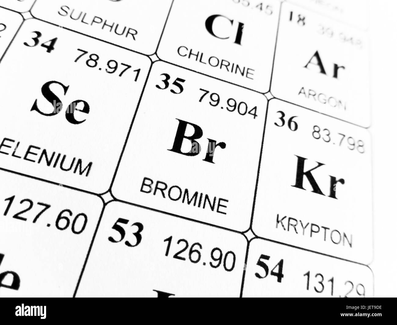 Bromine on the periodic table of the elements stock photo royalty bromine on the periodic table of the elements gamestrikefo Choice Image