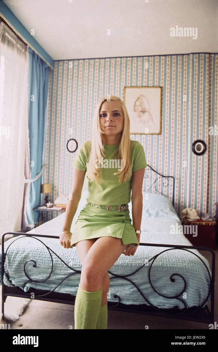 France Gall At Home In Her Paris Appartment In 1968 Photo Michael Stock Photo Royalty Free