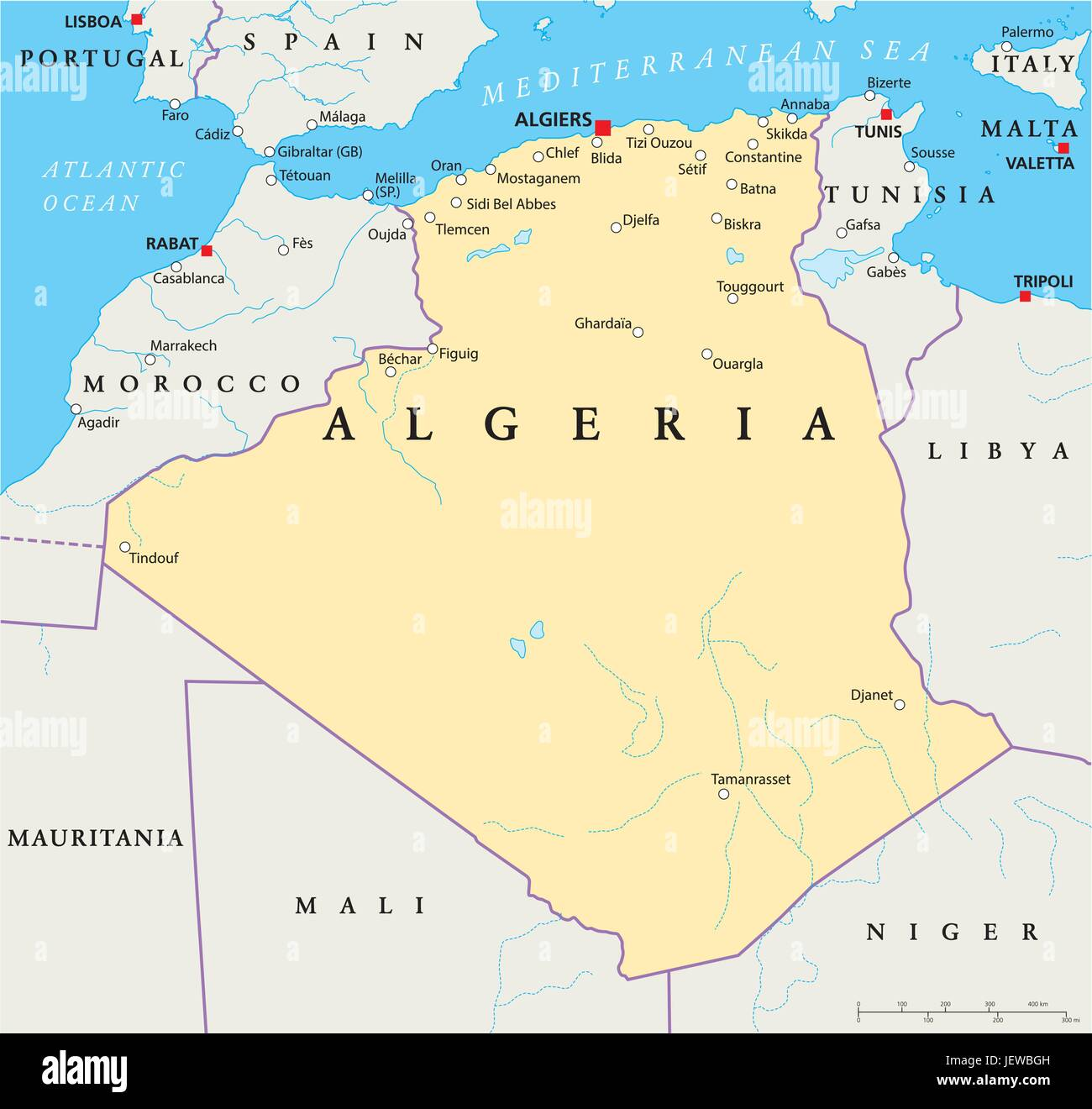 Country State Algeria Geography Cartography Map Atlas Map - Setif map