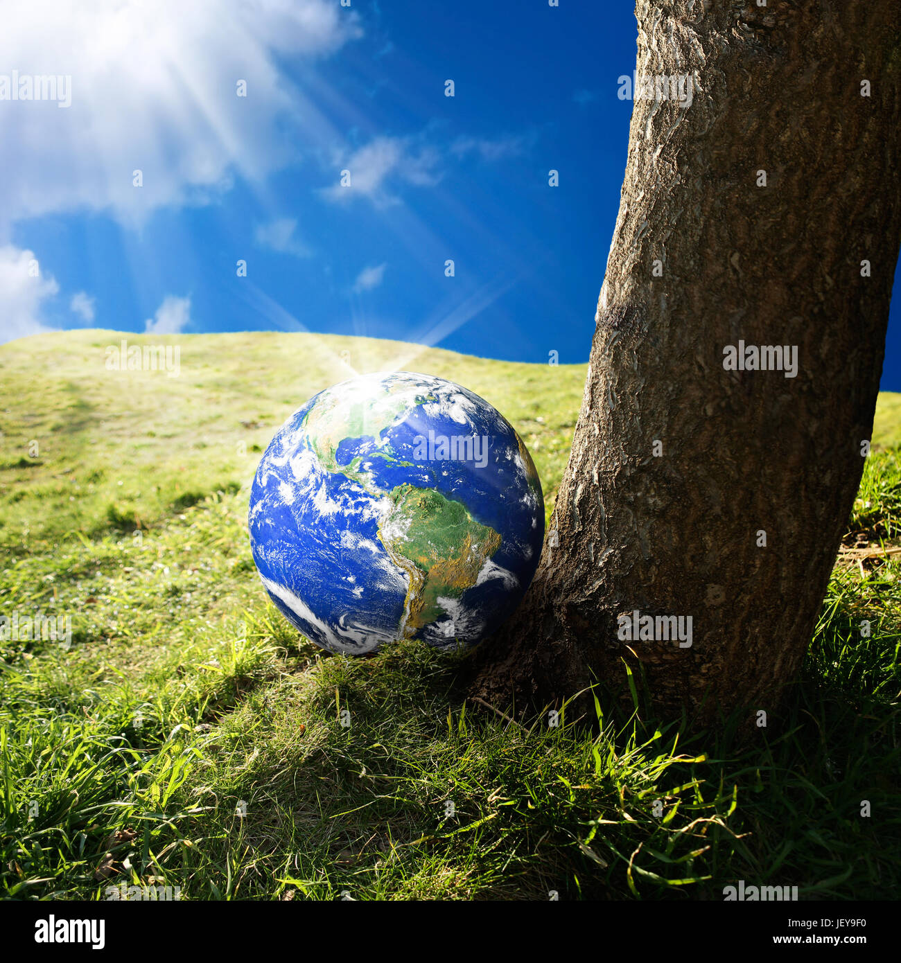 Conceptual image of world on green landscape nasa world map image conceptual image of world on green landscape nasa world map image layered and used nasa httpsflickrphotosgsfcsets7215763217 gumiabroncs Images