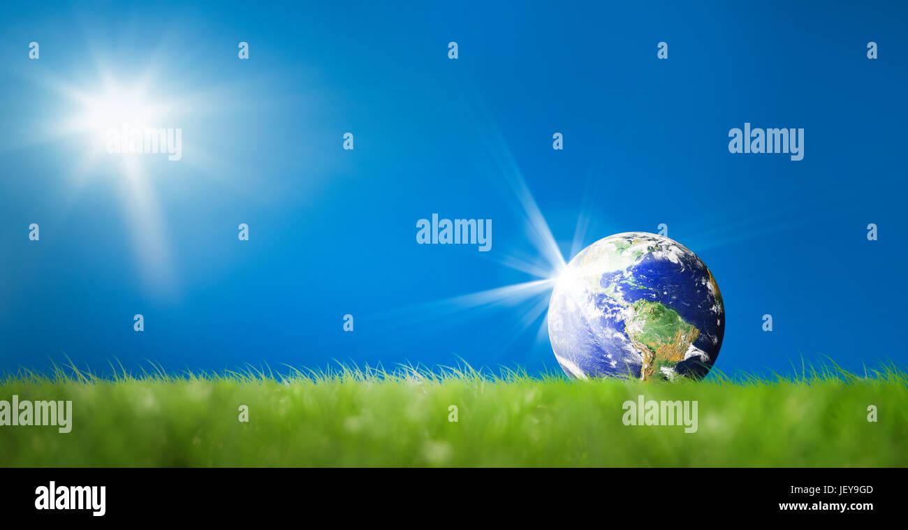 Conceptual image of world on green landscape nasa world map image conceptual image of world on green landscape nasa world map image layered and used nasa httpsflickrphotosgsfcsets7215763217 gumiabroncs Images