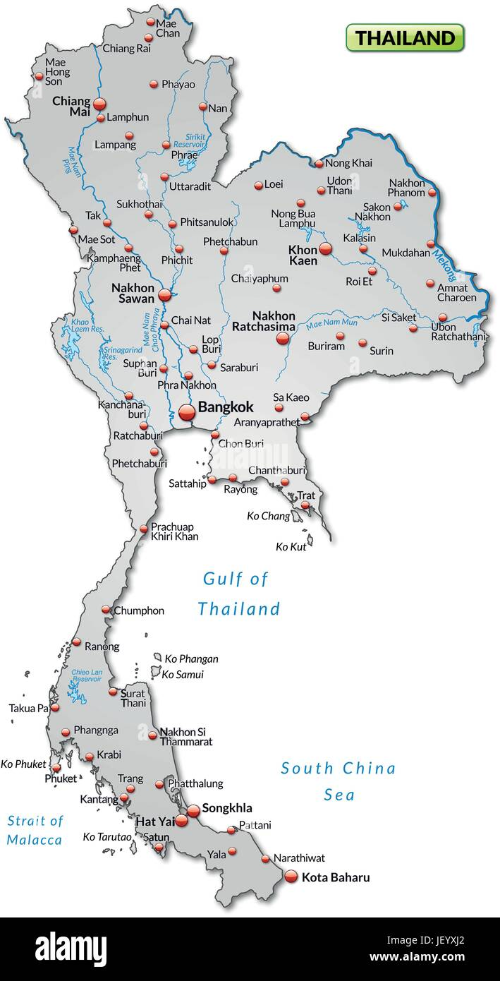 Thailand card outline borders atlas map of the world map thailand card outline borders atlas map of the world map thailandkarte gumiabroncs Images