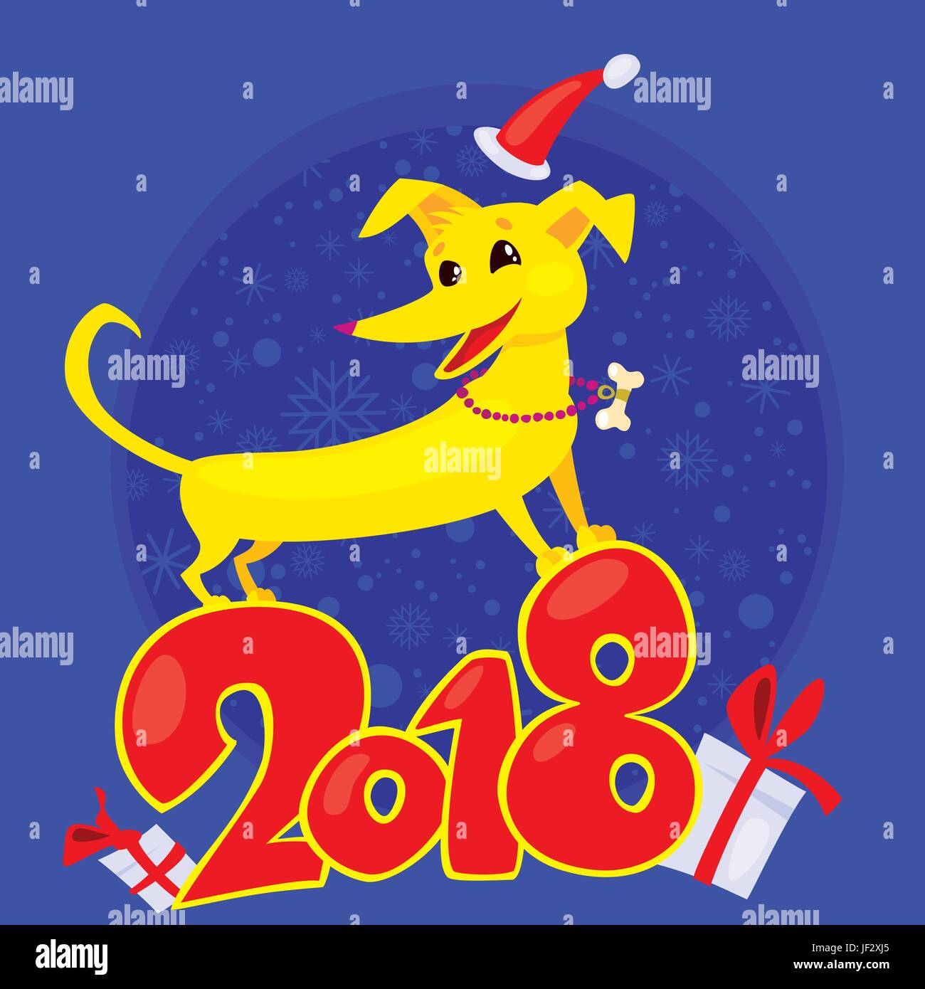 Yellow dog is the chinese zodiac symbol of the new year 2018 stock yellow dog is the chinese zodiac symbol of the new year 2018 buycottarizona Images
