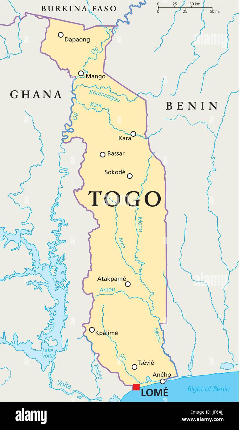 Africa Togo Map Atlas Map Of The World Africa Illustration - Togo map
