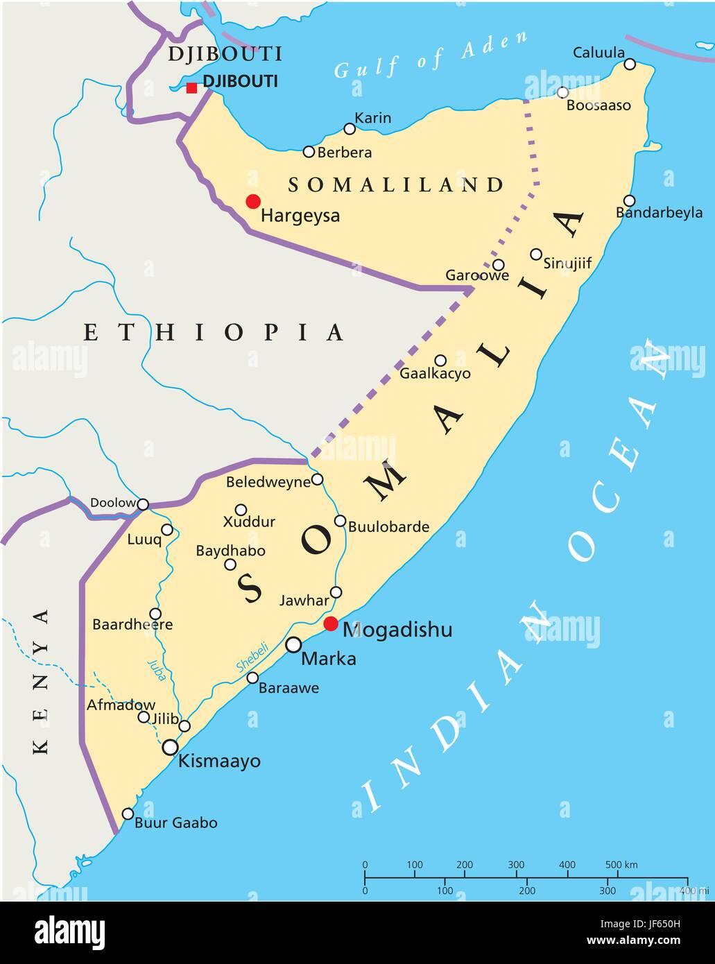 somalia map atlas map of the world africa kenya illustration
