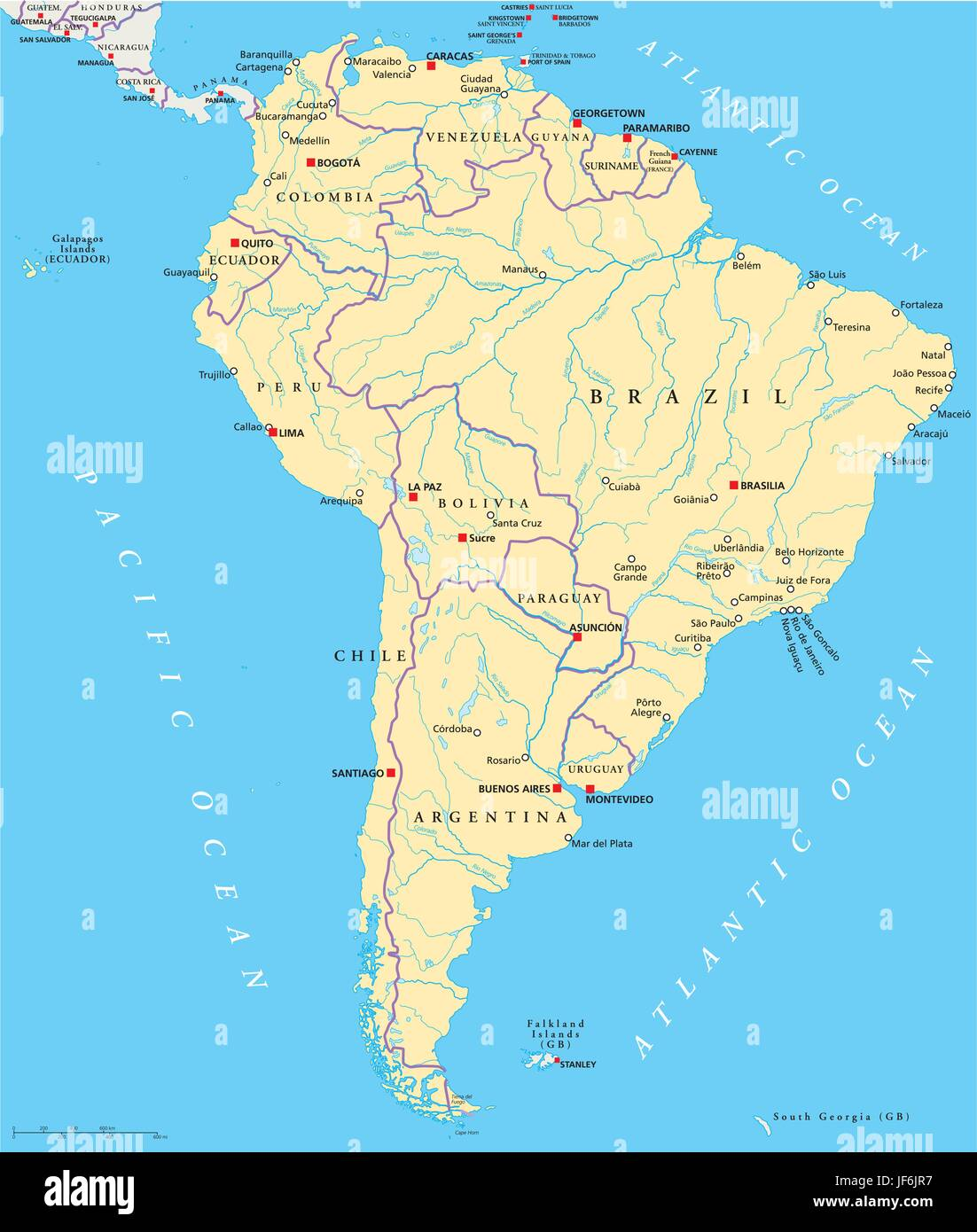 America Brazil South America Continent Venezuela States Map - Caracas on world map