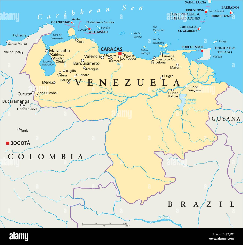 South America Venezuela Map Atlas Map Of The World Travel - Map of venezuela south america