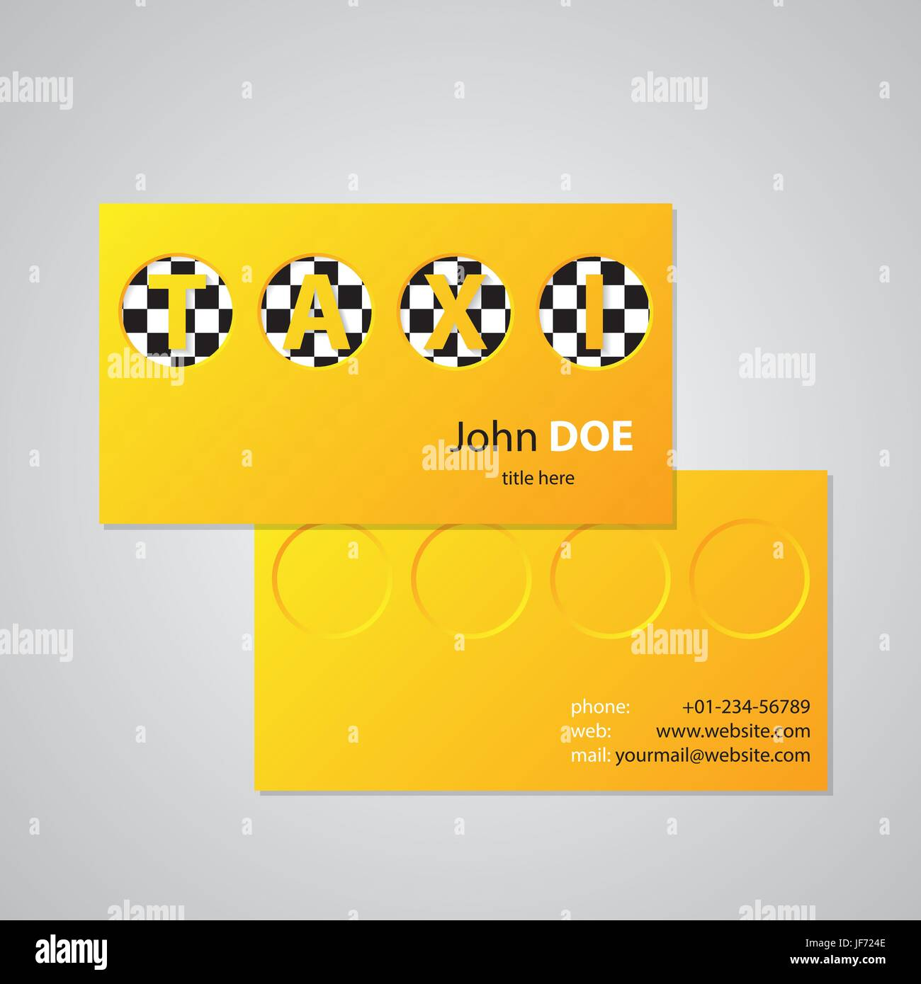 Taxi business card design with cutout taxi text Stock Vector Art ...