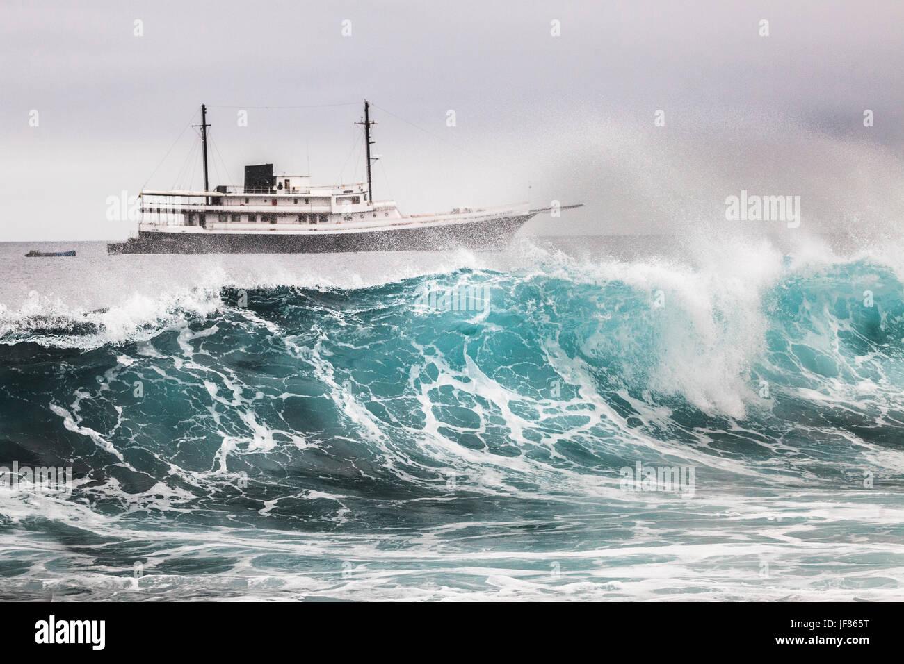 Cruise Ship In Galapagos Islands Ecuador Stock Photo Royalty - Cruise ships to the galapagos islands