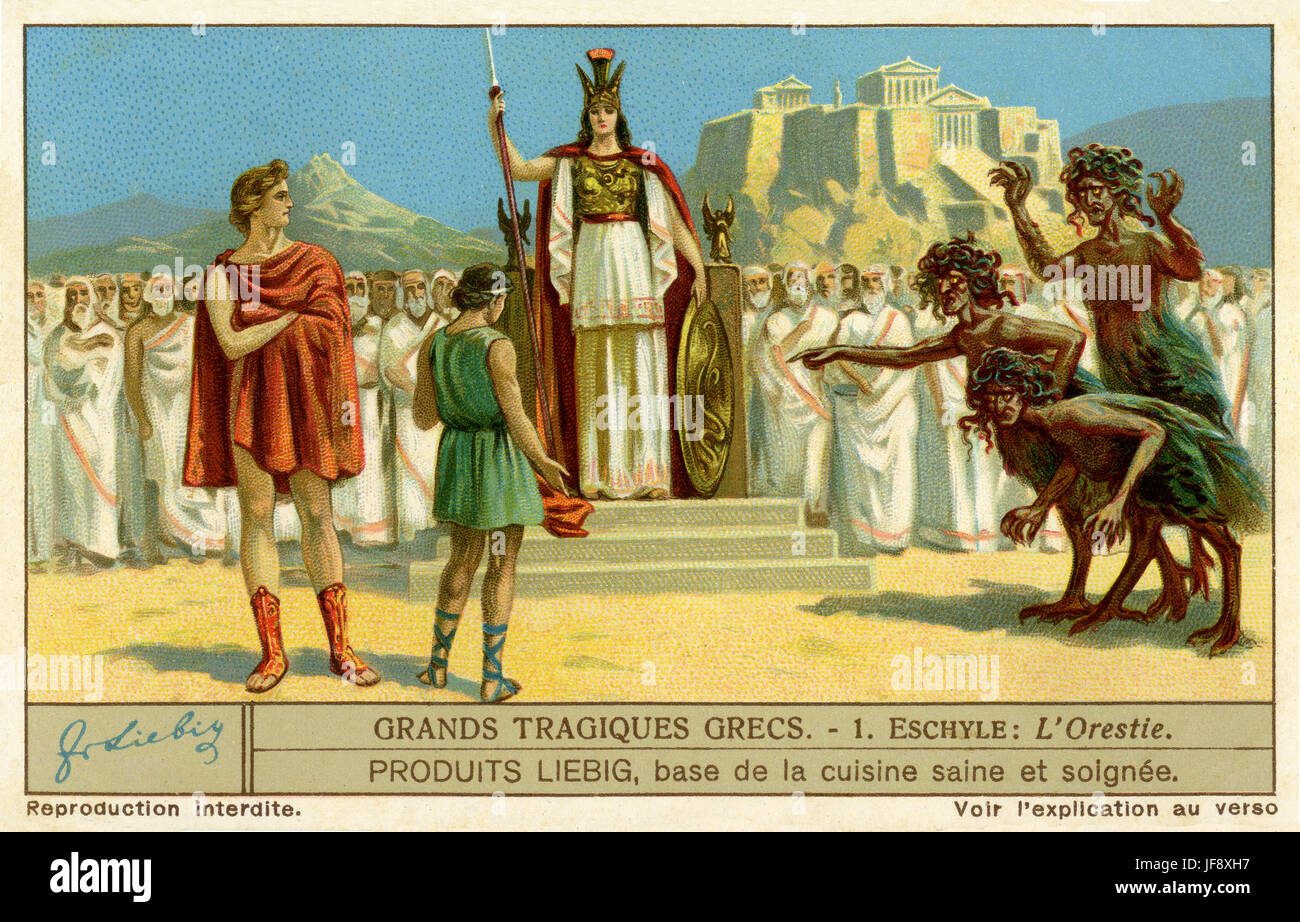 a literary analysis of the greek play oresteia Agamemnon (play one from the oresteia) nick hern books type: text  aeschylus' the oresteia is a trilogy of greek tragedies concerning the murder of  king.