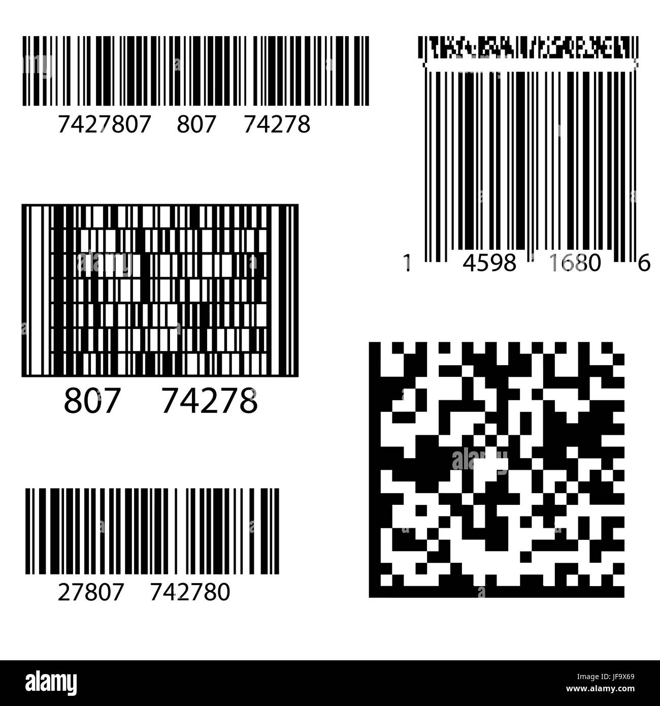 Product Barcode 2d Square Label. Sample QR Code Ready To Scan With Smart  Phone  Product Label Sample