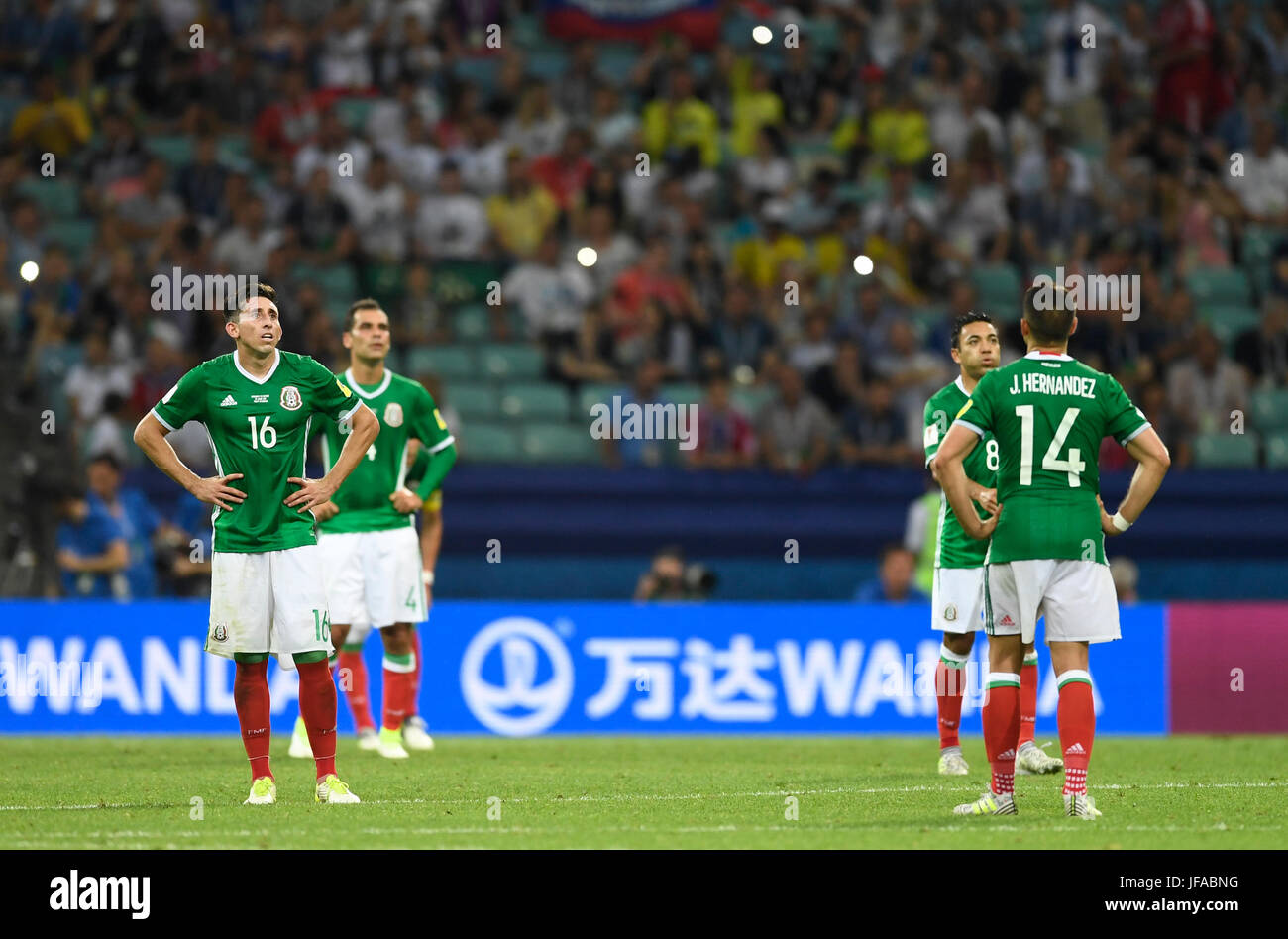 Sochi Russia 29th June 2017 L R Mexico s Hector Herrera