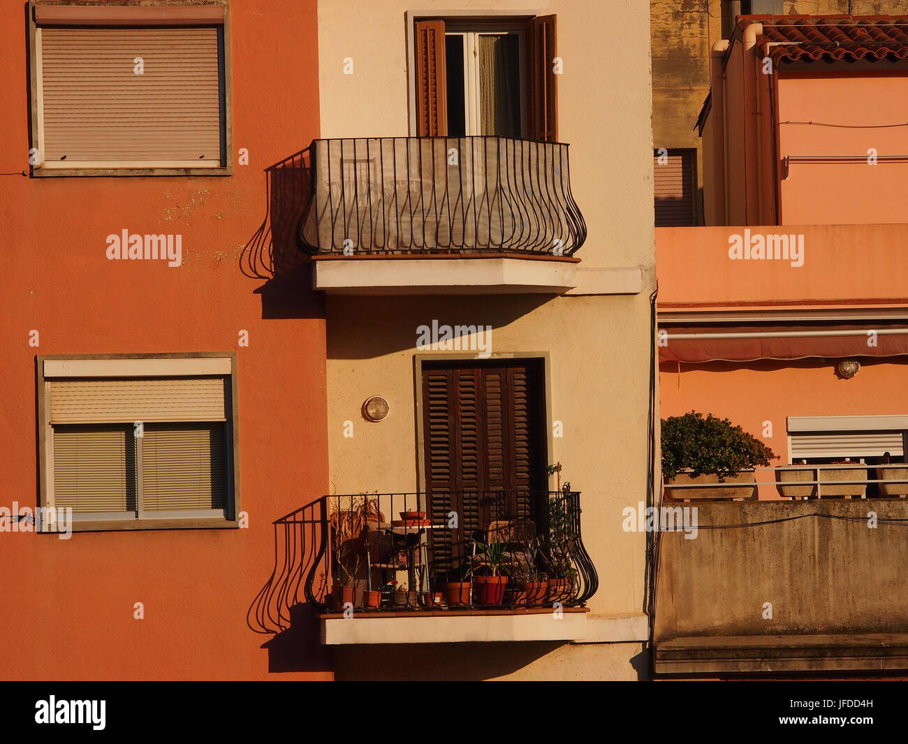 Traditional Spanish Architecture In These Apartment Balconies Barcelona
