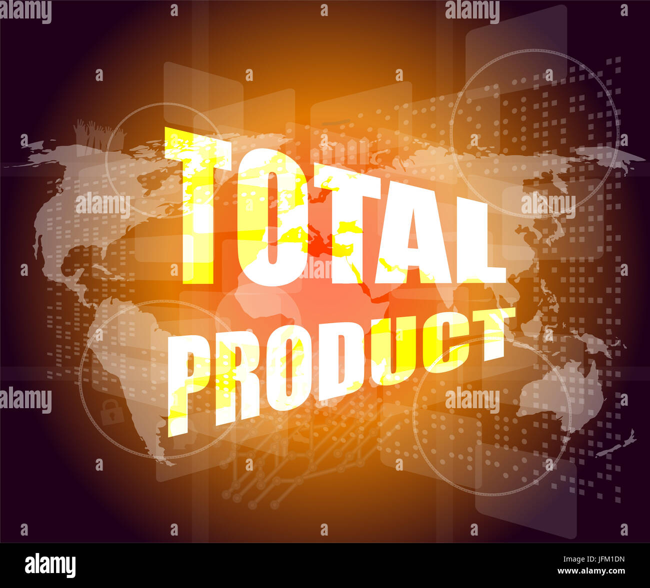 Total product words on digital screen background with world map total product words on digital screen background with world map gumiabroncs Choice Image