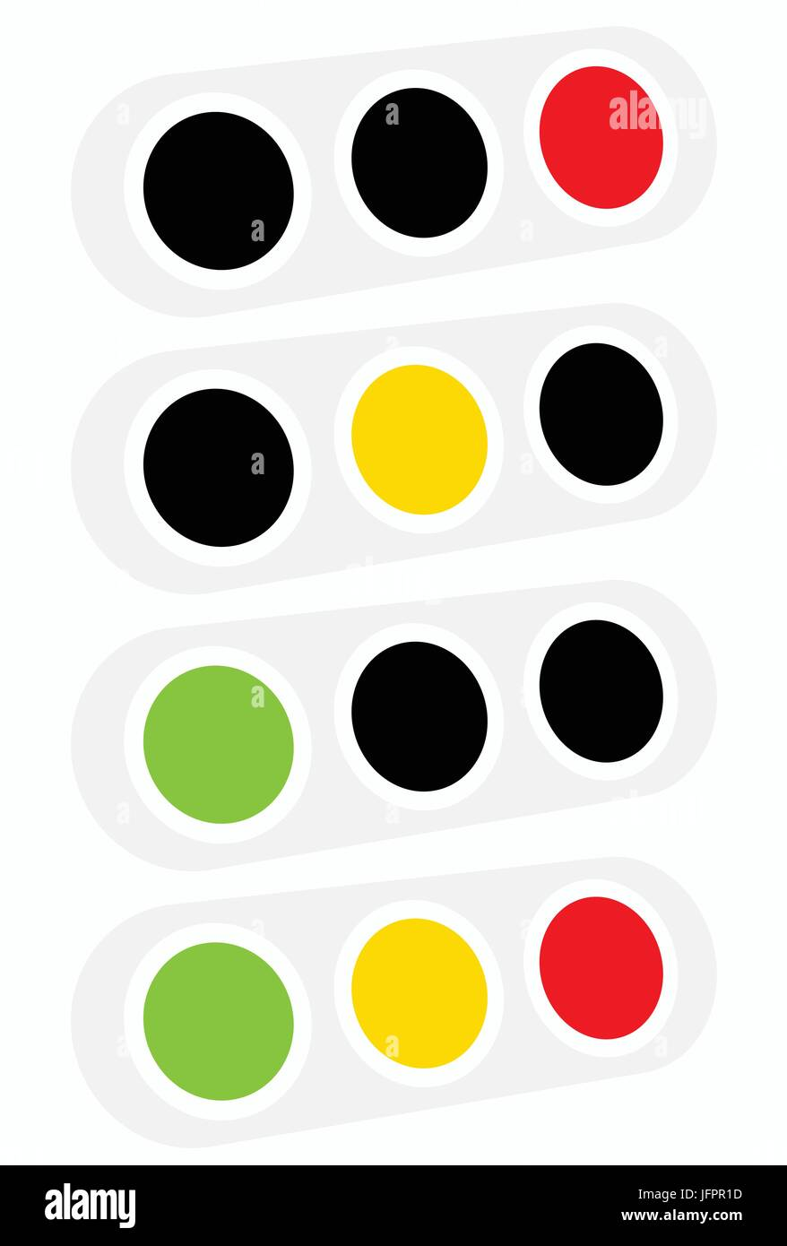 Traffic light, traffic lamp icon in set. Semaphore with green ... for Traffic Light Yellow Icon  lp0lpmzq