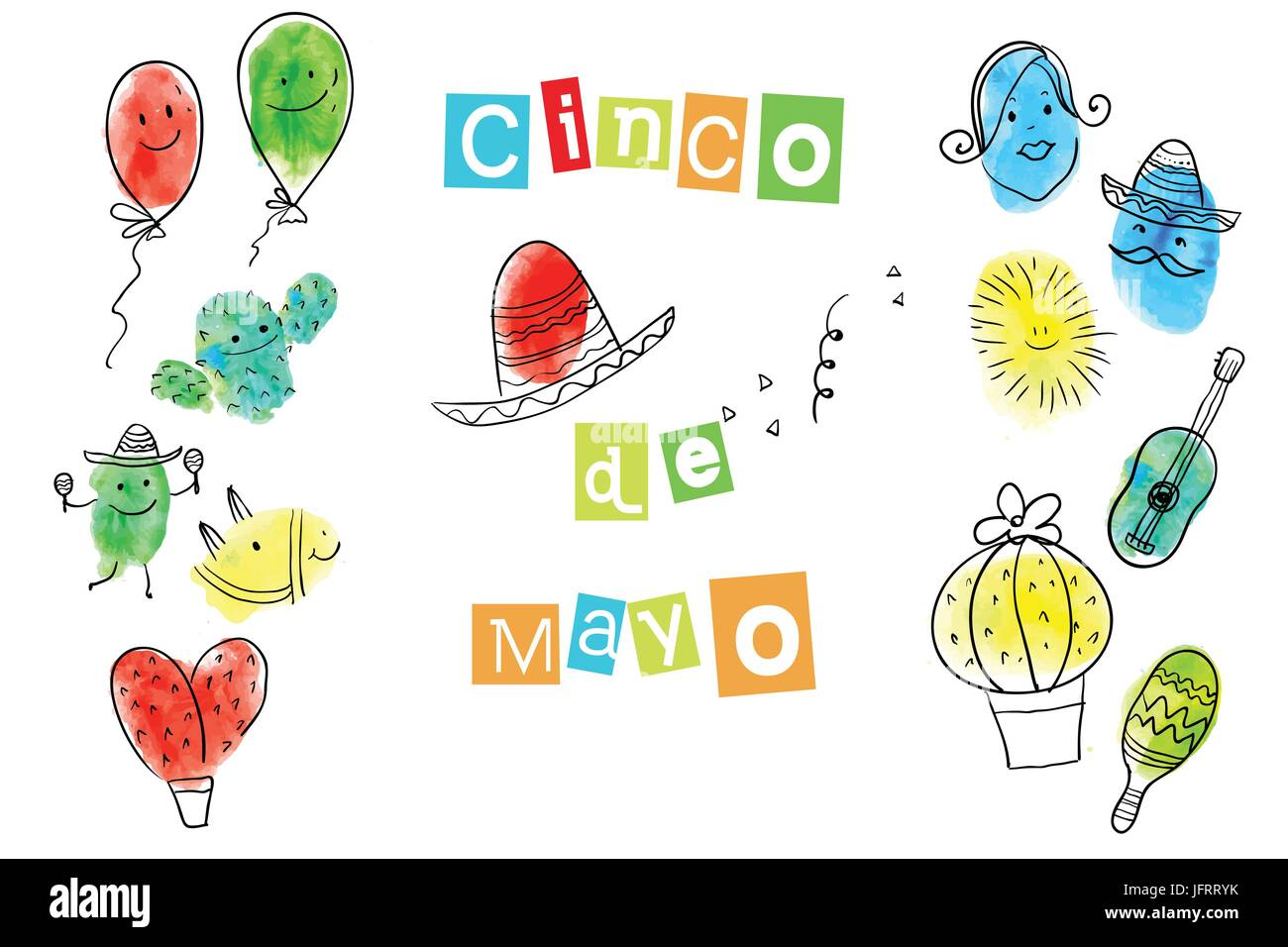 Greeting card of the cinco de mayo day stock vector art greeting card of the cinco de mayo day m4hsunfo