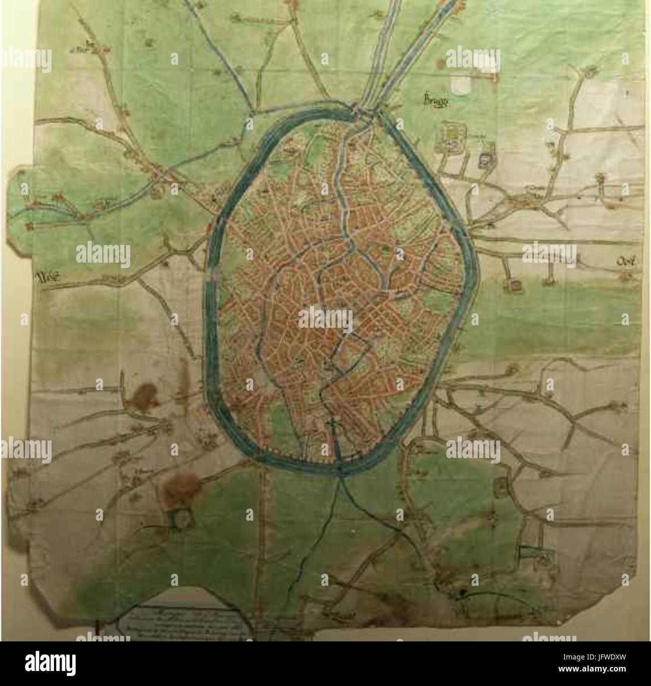 Brugge Belgium 3B Deventer map Stock Photo Royalty Free Image