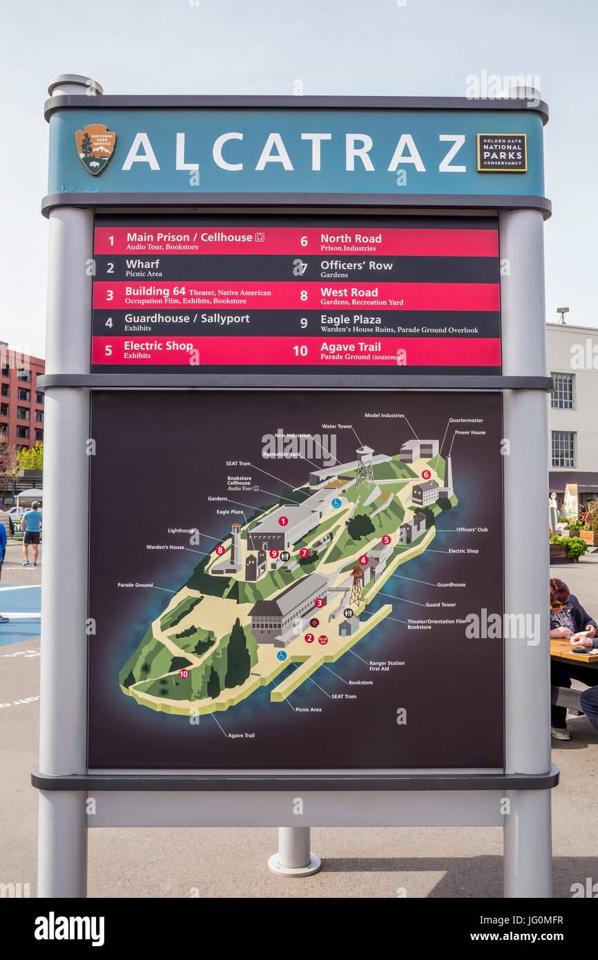Alcatraz map map of Alcatraz Alcatraz Landing Pier 33 The