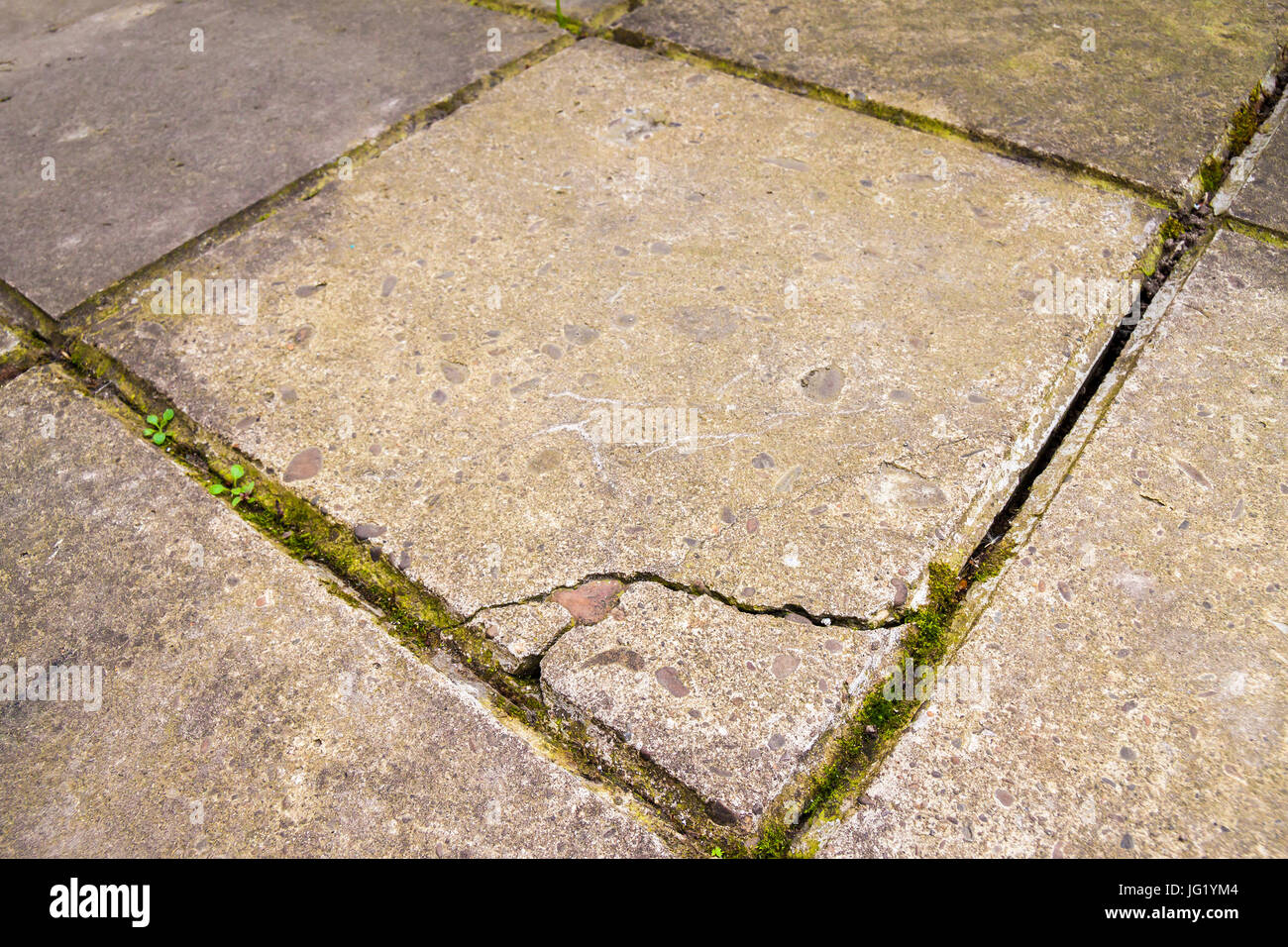 Old and broken cracked concrete floor tiles stock photo 147561124 old and broken cracked concrete floor tiles dailygadgetfo Choice Image