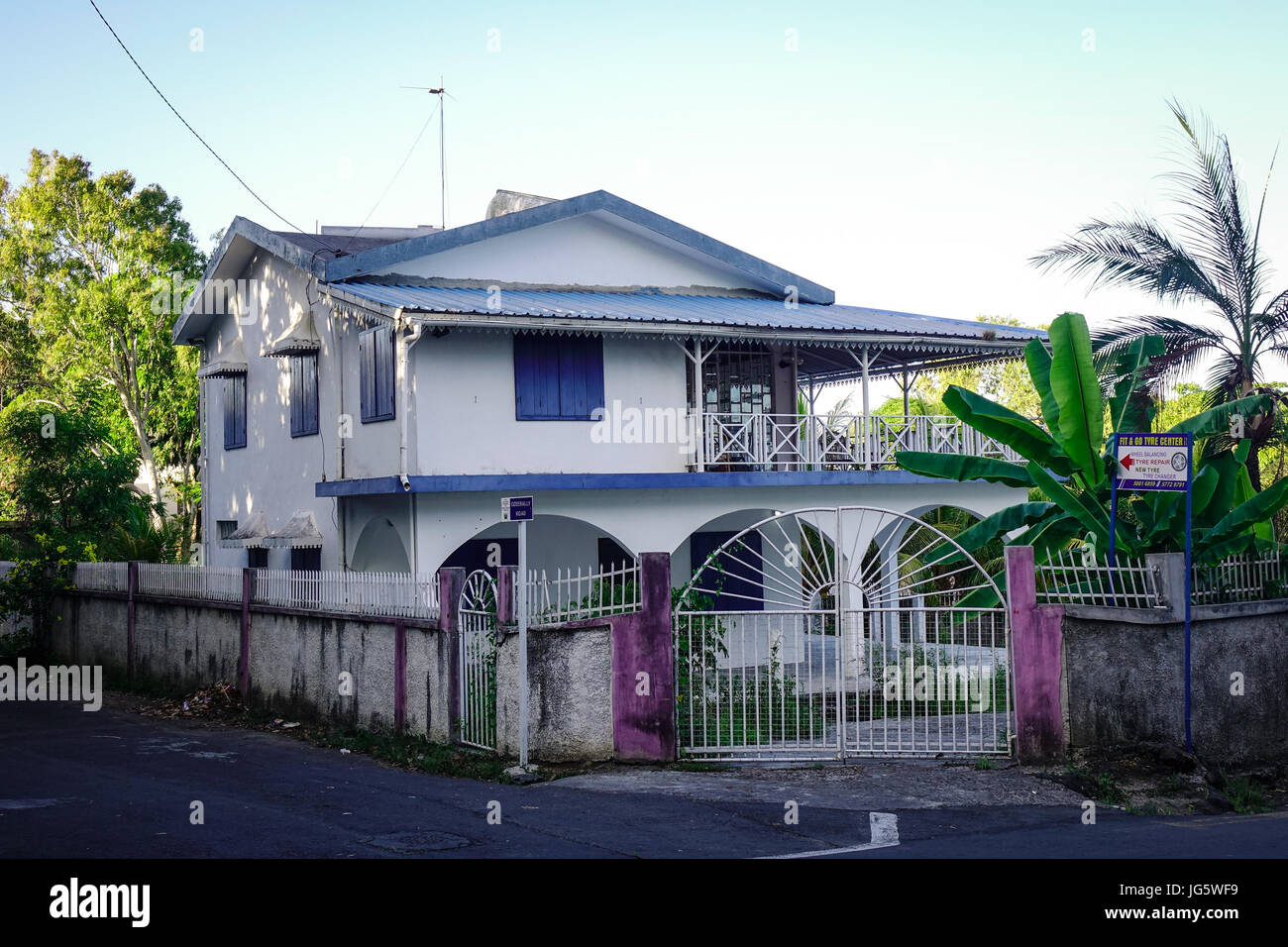 port louis, mauritius - jan 11, 2017. a traditional house at