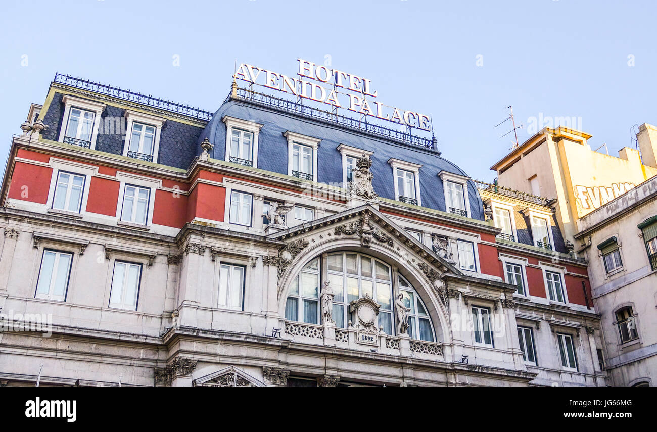 Hotel Avenida Palace Hotel Avenida Palace In Lisbon Lisbon Portugal Stock Photo