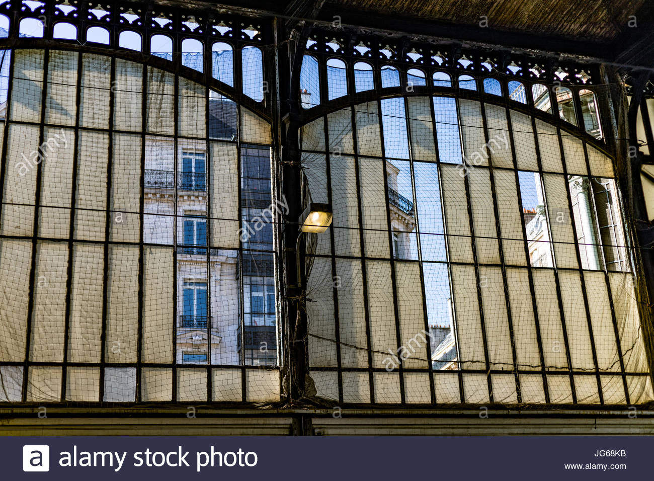Gare Saint-Lazare Canopy windows across & Gare Saint-Lazare Canopy windows across Stock Photo Royalty Free ...