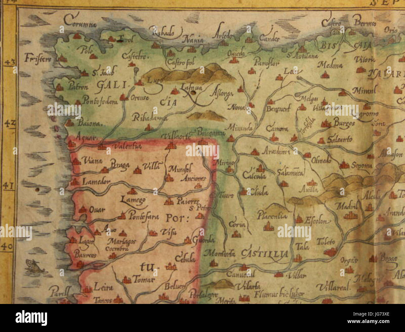 Map Of Spain And Portugal North West Stock Photo Royalty - Portugal map north
