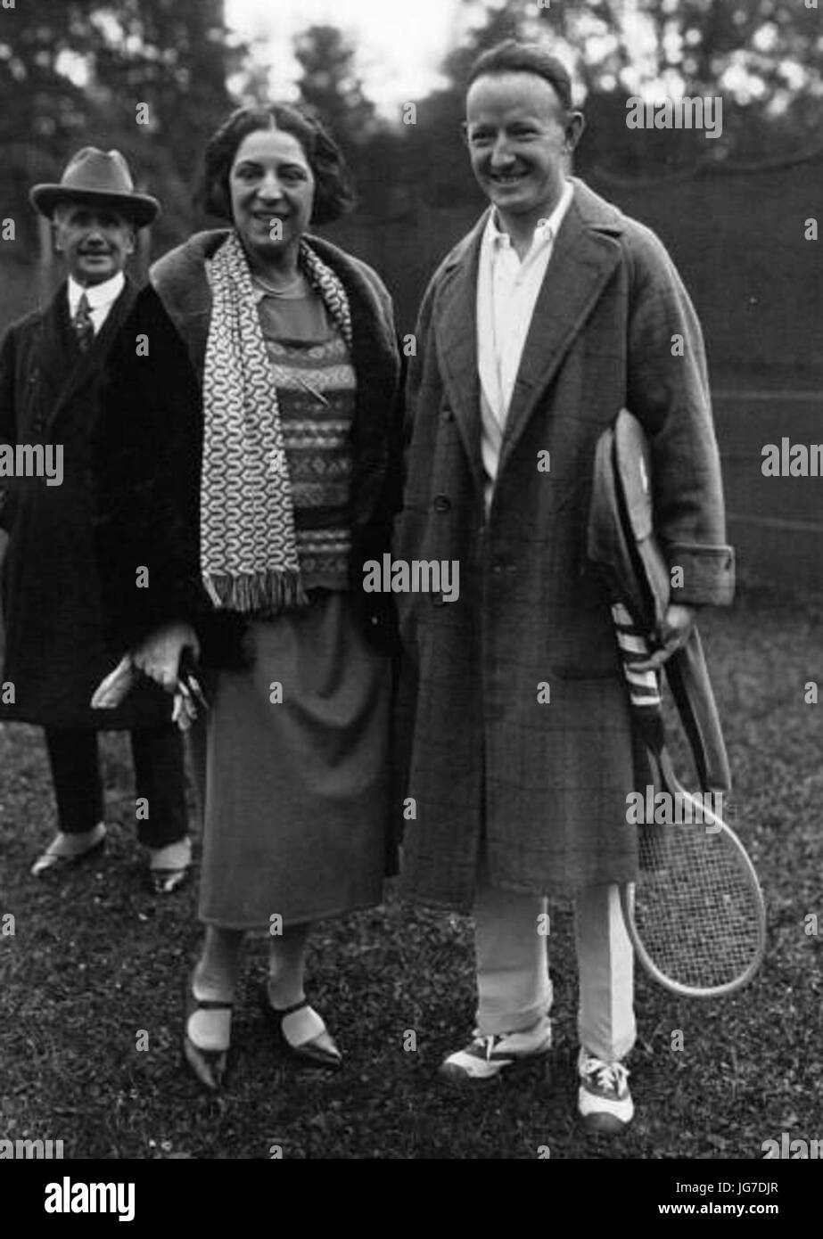 Suzanne Lenglen Bill Johnston 1923 Stock Royalty Free Image