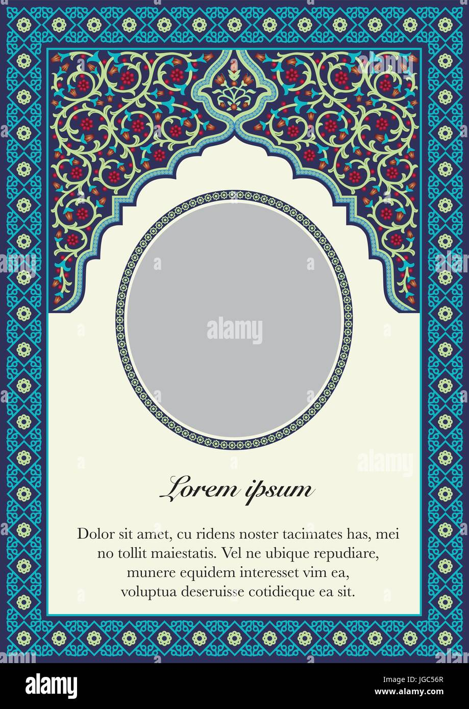 Book Cover Art Styles : Inside book cover islamic style stock vector art