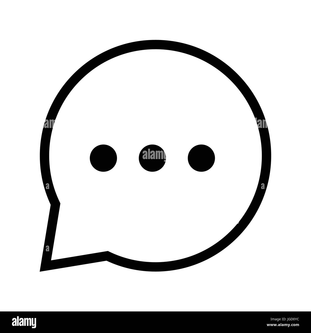 Chat sign three dots icon iconic symbol inside speech bubble on chat sign three dots icon iconic symbol inside speech bubble on white backgroun vector iconic design biocorpaavc