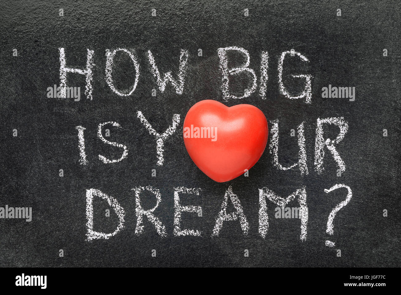 How big is your dream question handwritten on blackboard with how big is your dream question handwritten on blackboard with heart symbol instead of o buycottarizona Image collections