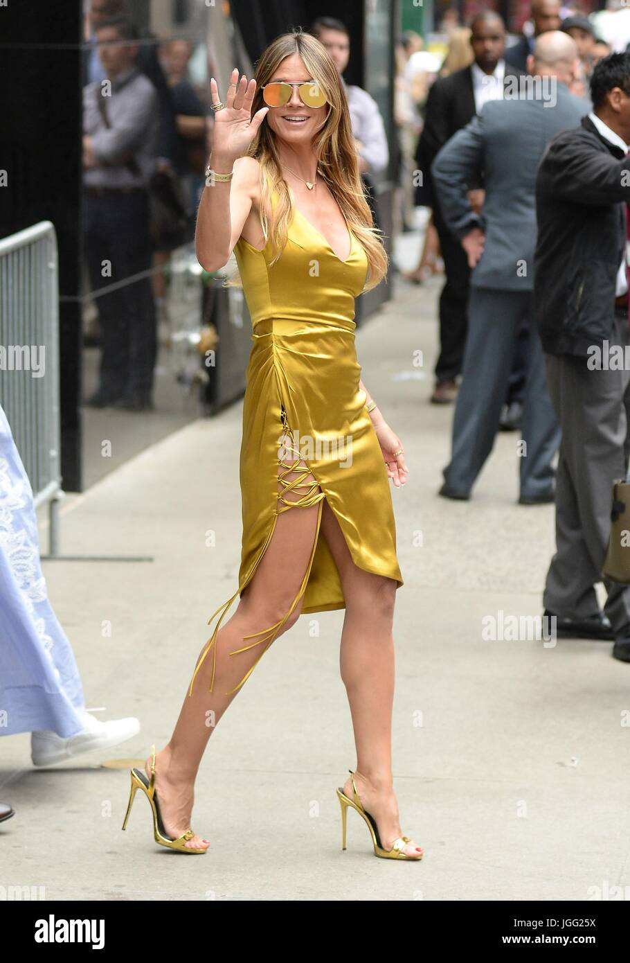 new york ny usa 6th july 2017 heidi klum out and about for stock photo royalty free image. Black Bedroom Furniture Sets. Home Design Ideas