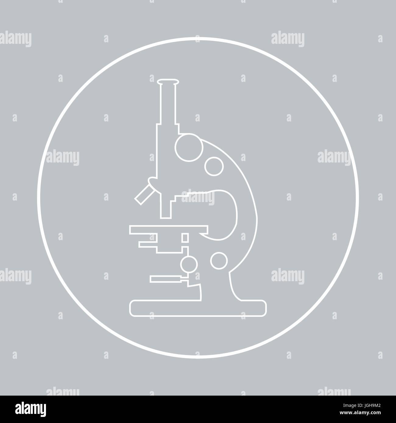Stylized vector icon of microscope magnifying device sign stock stylized vector icon of microscope magnifying device sign laboratory equipment symbol buycottarizona