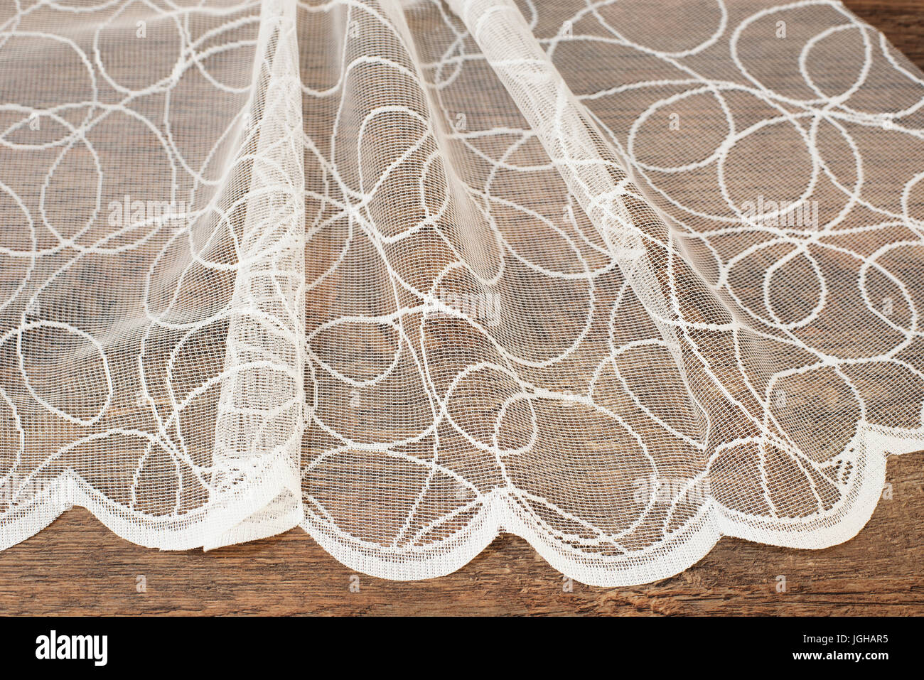 Close Up Of Beautiful White Tulle Sheer Curtains Fabric Sample Texture Background Pattern Wedding Concept Interior Design Vintage Lace Ch