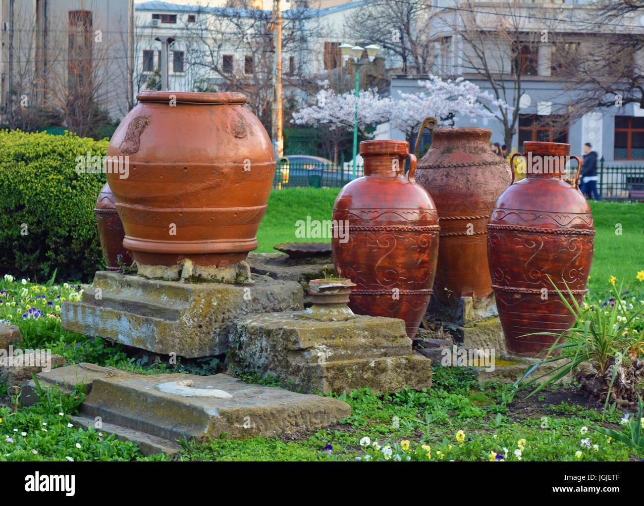 Old vintage vases in the park cismigiu in bucharest romania old vintage vases in the park cismigiu in bucharest romania reviewsmspy