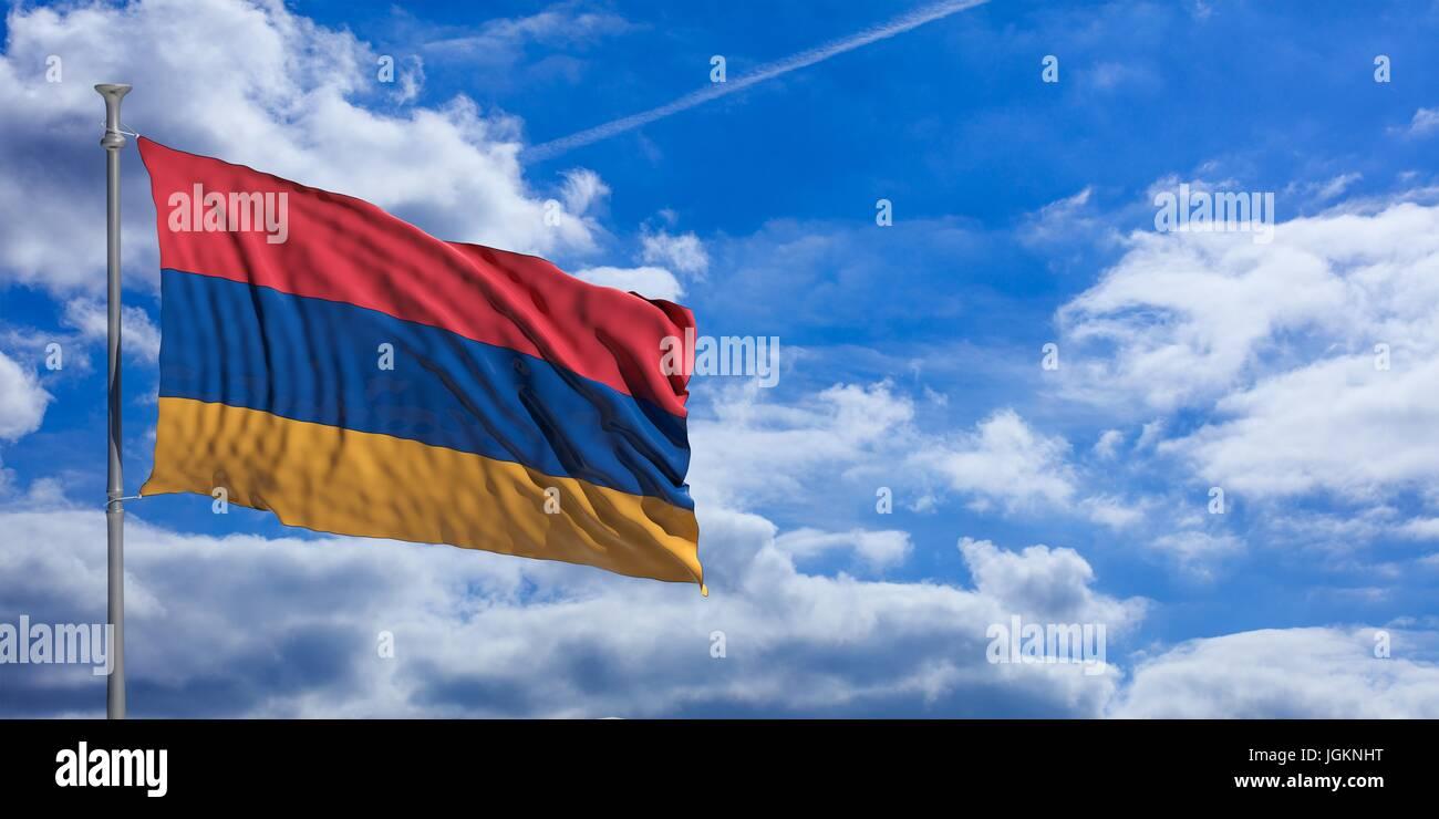 Armenia Flag Waving