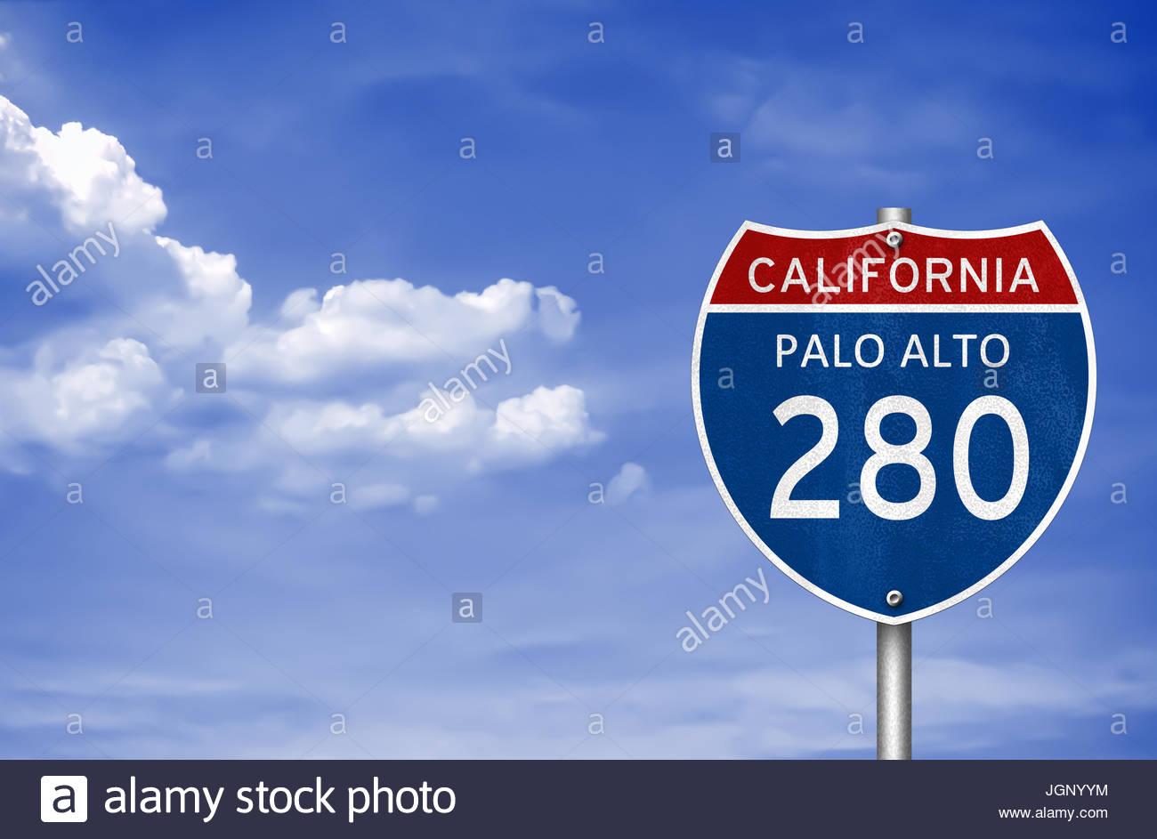 Palo alto california road sign stock photo royalty free image palo alto california road sign biocorpaavc