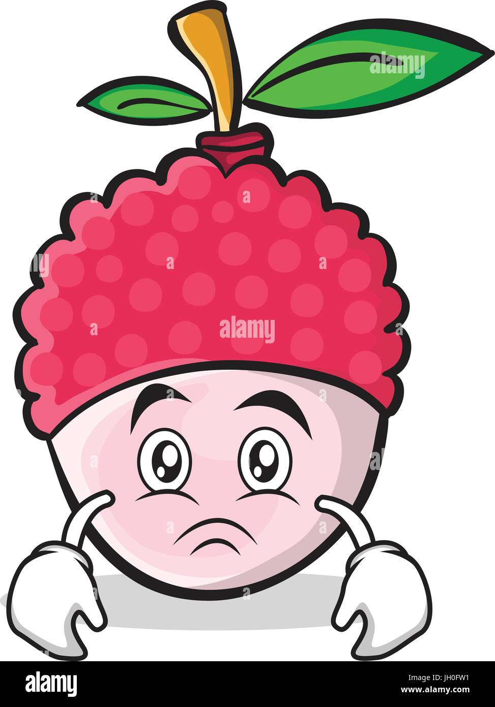 Sad face lychee cartoon character style stock vector art sad face lychee cartoon character style voltagebd Images