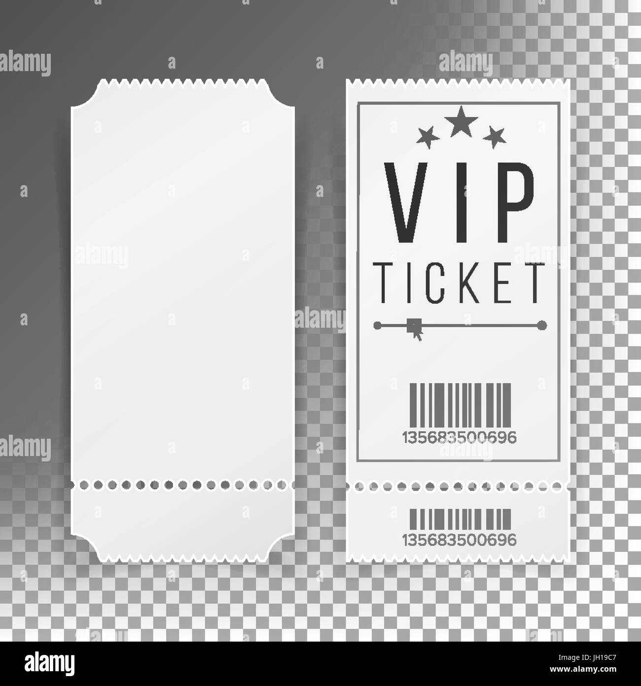 Ticket Template Set Vector. Blank Theater, Cinema, Train, Football Tickets  Coupons. Isolated On Transparent Background  Blank Ticket