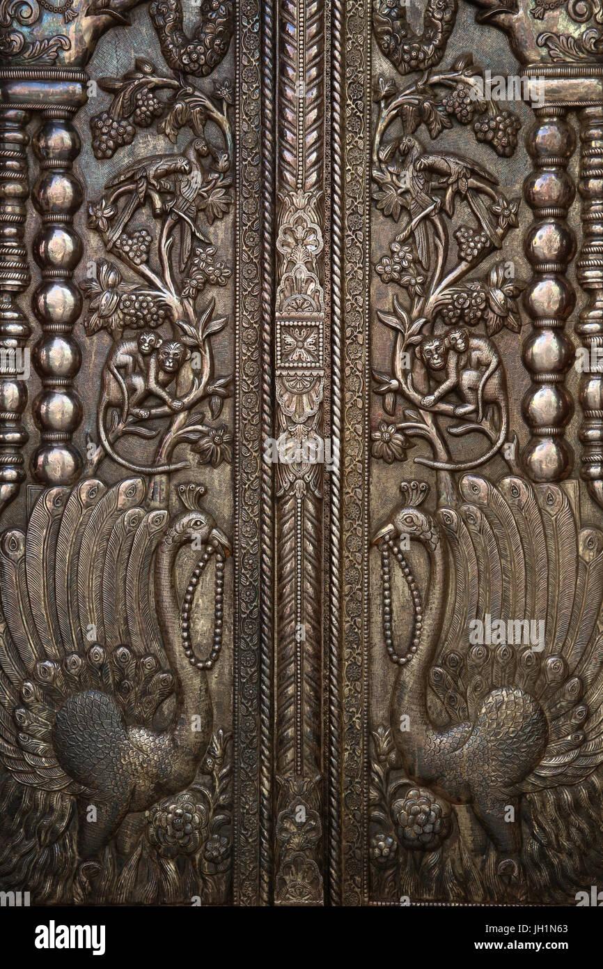 Detail of door of Shri Bankey Bihari Mandir a notorious Hindu temple dedicated to Krishna & Detail of door of Shri Bankey Bihari Mandir a notorious Hindu ... pezcame.com