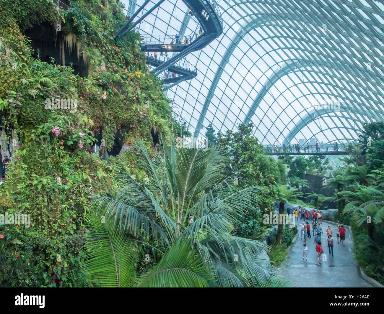Indoor rainforest garden, Gardens by the Bay, Singapore, Southeast ...