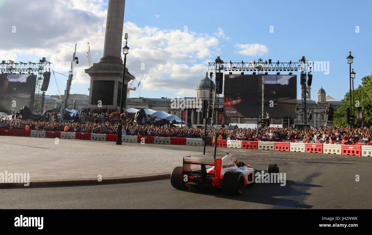 London Uk July Formula Racing Cars Are On Display