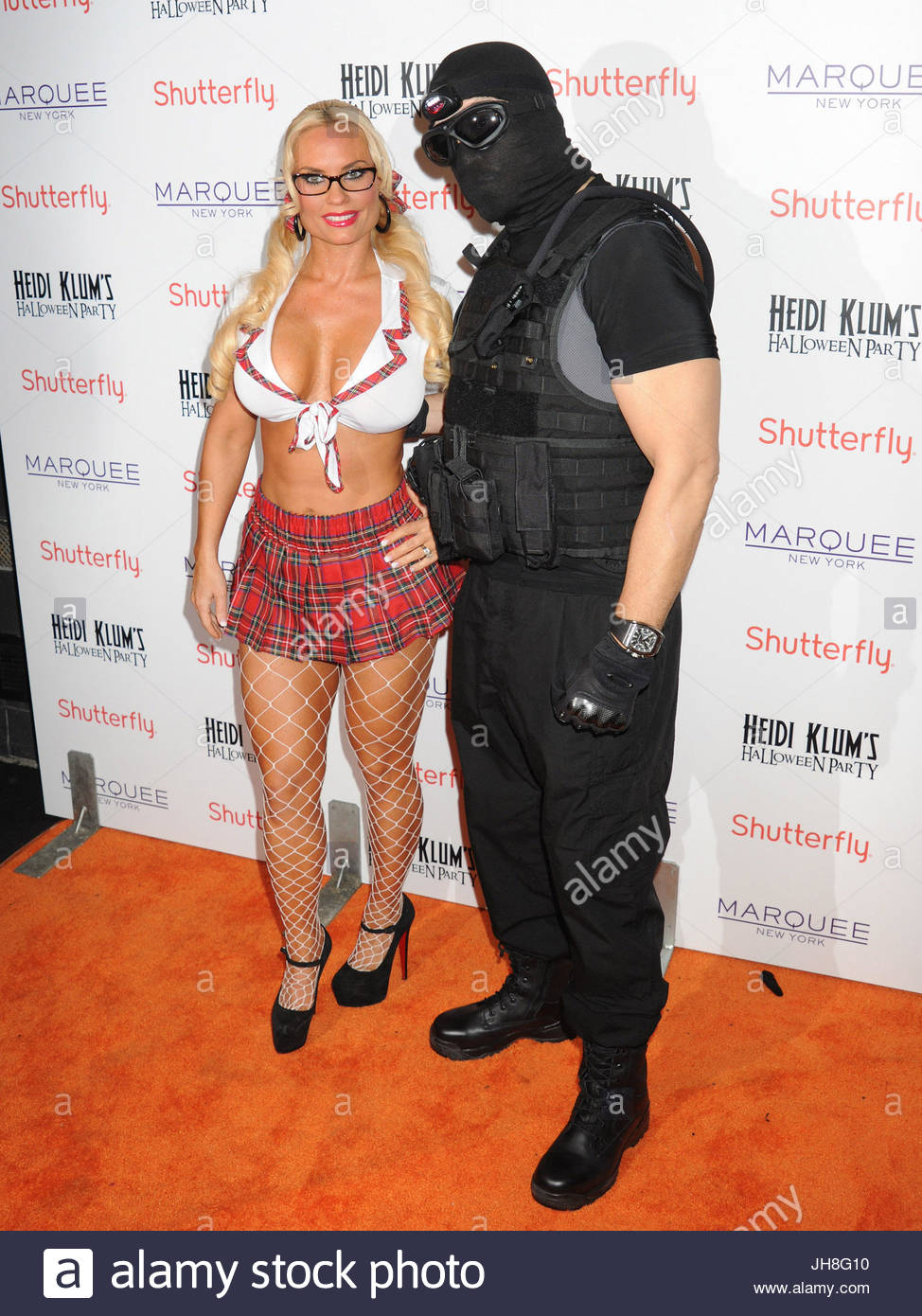 Coco and Ice-T. Celebrity guests arrive for Heidi Klum's 14th ...
